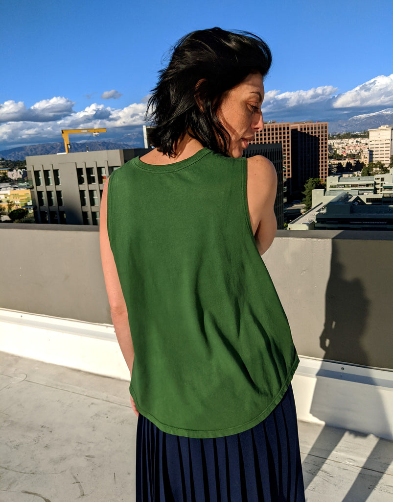 Gatherer Green Organic Cotton Muscle Tee