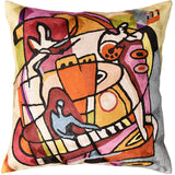 Stroking the Keys by Alfred Gockel Accent Pillow Cover-Handmade Art Silk 18
