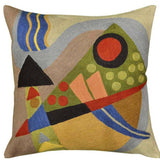 Kandinsky Composition VII Cushion Cover Hand Embroidered 18