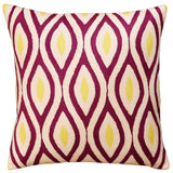 Contemporary Seamless Amaranth Purple Yellow Decorative Pillow Cover Wool 18