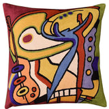 Bass Dance by Alfred Gockel Accent Pillow Cover-Handembroidered Wool 18