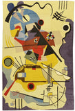 6x4ftKandinsky Abstract World Wool Rug / Wall Tapestry Hand Embroidered