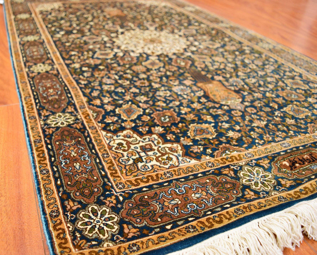 mat the rugs embroidered product from silk rug mats company kashmir prayer handmade asim