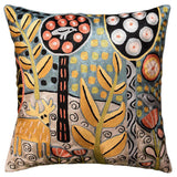 Deer & Bird Karla Gerard Accent Pillow Cover Handembroidered Art Silk 18