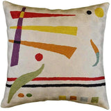 Kandinsky  Synaesthesia Abstract Cream Pillow Cover Wool Handembroidered 18