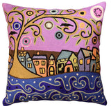 By The Sea Karla Gerard Decorative Pillow Cover Handembroidered Wool 18
