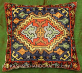 Antlered God Tribal Decorative Pillow Cover Hand Embroidered
