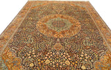10'X14' Kashan Rug Pure Silk Pile Medallion Oriental Area Rugs Carpet Hand Knotted