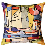 Americana North Atlantic by Alfred Gockel Accent Pillow Cover Art Silk 18