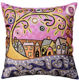 By The Sea Karla Gerard Decorative Pillow Cover Handembroidered Art Silk 18