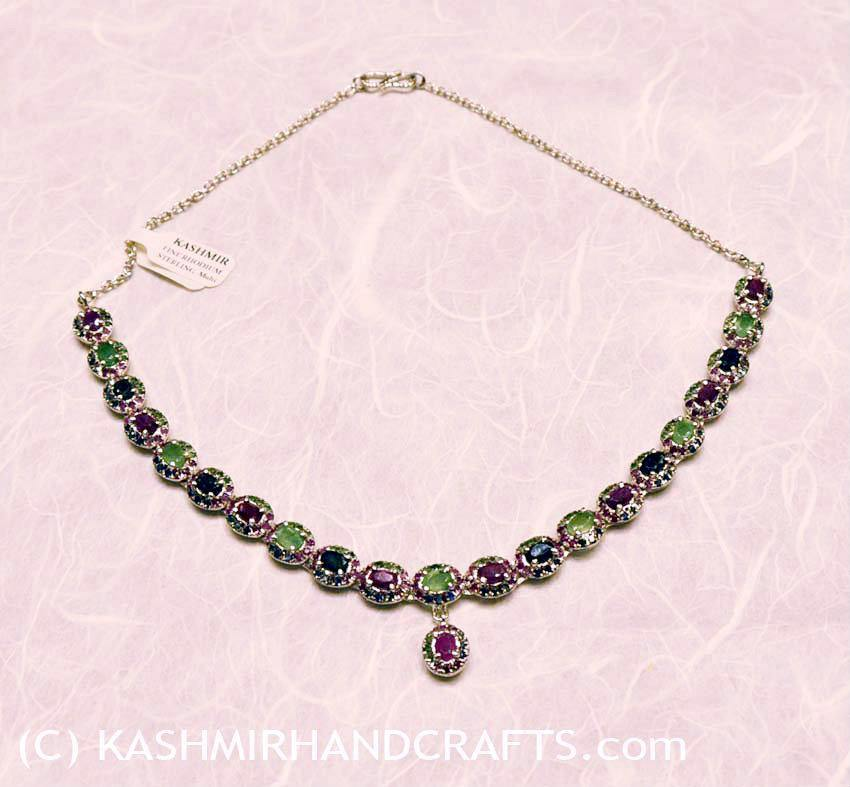 """Candy Ice"" Precious and Semiprecious Stone Necklace"