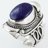 Size 10 Lapis Ring Sterling Silver Mystic Royal Blue