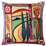 Fun in the Sun VII by Alfred Gockel Accent Pillow Cover Handmade Wool 18