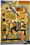 Kandinsky 5ft x 7ft Composition Wool Rug / Tapestry Hand Embroidered