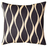 Contemporary Waves Slate Gray Decorative Pillow Cover Handmade Wool 18