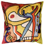 Bass Dance by Alfred Gockel Accent Pillow Cover Handembroidered Art Silk 18