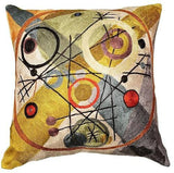 Kandinsky Cushion Cover Circles In A Circle Silk Hand Embroidered Art Silk 18x18