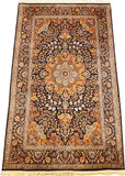 6'X4' Ardabil Brown Rug Pure Silk Pile Oriental Area Rugs Carpet Hand Knotted