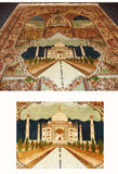 Taj Handknotted Painting Silk on Silk Rug 5ft x 7ft