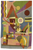 Kandinsky Abstract Colorful World Wool Rug / Wall Tapestry Hand Embroidered 6ft x 4ft
