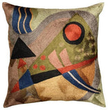Kandinsky Abstract Silk Throw Pillow Cover Composition 18