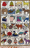 Alphabet 2.5x4ft Cream II Kids Room Decorative Wall Hanging Tapestry Rug Wool