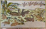 Ducks 3ftx5ft Floral Art Deco Decorative Accent Wall Hanging Tapestry Rug Wool