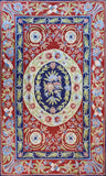 Floral 2.5x4ft Navy Red Handmade Decorative Wall Hanging Tapestry Rug Art Silk
