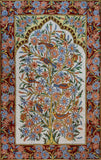 Floral 2.5x4ft Tree of Life Birds Cream Red Wall Hanging Tapestry Rug Art Silk
