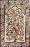 Floral 2.5x4ft Tree of Life Birds Decorative Wall Hanging Tapestry Rug Art Silk