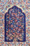 Floral 2.5x4ft Tree of Life Birds Navy Blue Wall Hanging Tapestry Rug Art Silk