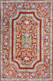 Floral 2ftx3ft Decorative Red Handmade Wall Hanging Tapestry Rug Carpet Art Silk