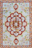 Floral 2ftx3ft Decorative Red Medallion Wall Hanging Tapestry Rug Art Silk