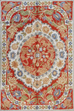 Floral 2ftx3ft Handmade Red Medallion II Wall Hanging Tapestry Rug Art Silk