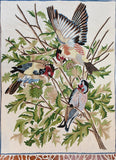 Floral 3ftx4ft Tree of Life Crown Birds Decorative II Wall Art Tapestry Rug Wool