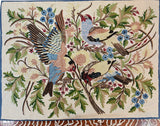 Floral 3ftx4ft Tree of Life Crown Birds Decorative I Wall Art Tapestry Rug Wool