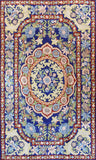 Floral 3ftx5ft Decorative Red Blue Accent Wall Hanging Tapestry Rug Art Silk