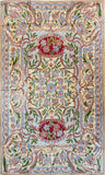 Floral 3ftx5ft Decorative Red Gold Handmade Wall Hanging Tapestry Rug Art Silk