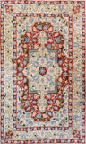 Floral 3ftx5ft Decorative Red Handmade Wall Hanging Tapestry Rug Carpet Art Silk