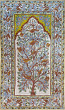 Floral 3ftx5ft Tree of Life Birds Accent III Wall Hanging Tapestry Rug Art Silk