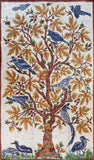 Floral 3ftx5ft Tree of Life Birds Cream Maple Wall Hanging Tapestry Rug Art Silk