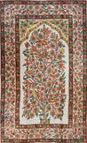 Floral 3ftx5ft Tree of Life Birds Cream Rust Wall Hanging Tapestry Rug Art Silk