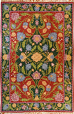 Floral 6ftx4ft Decorative Red Green Handmade Wall Hanging Tapestry Rug Wool