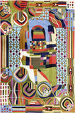 6ftx4ft Hundertwasser Tapestry Wall Art Rug Hand Embroidered Wool