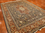 9'x12' Isfahan Silk Medallion Rose Garden Pure Silk Oriental Area Rugs Persian Style Carpet Hand Knotted