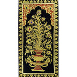 Jewel 1.5ftx3ft Floral Panel Tapestry Wall Hanging Red Black Zardozi Handmade