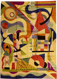 Kandinsky Tapestry 5ftx7ft Composition Abstract Wall Hanging Rug Carpet Art Silk