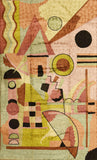 Kandinsky Tapestry 3ftx5ft Composition Soulful Wall Hanging Rug Carpet Art Silk