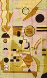 Kandinsky Tapestry 3ftx5ft Composition VII A Wall Hanging Rug Carpet Art Silk