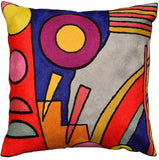 Kandinsky Decorative Pillow Cover Composition VI Hand-Embroidered Wool 18